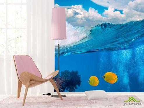 Море Фотообои Две рыбки в море