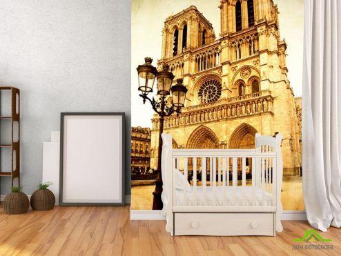 обои Архитектура Фотообои Собор Парижской Богоматери в париже
