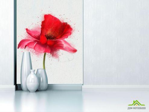 Маки Фотообои рисунок мак