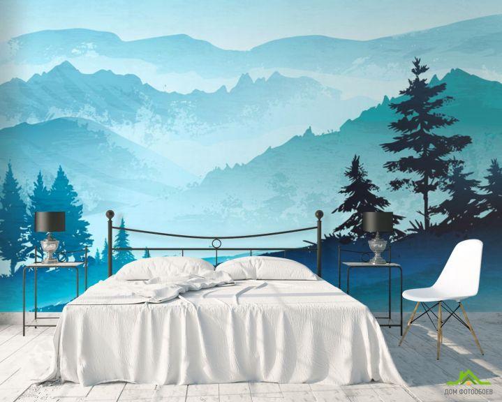 Фотообои Горы в скандинавском стиле