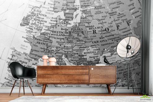 Фотообои карта Мира по выгодной цене Фотообои Подробная карта