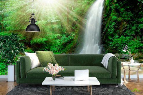Водопад Фотообои Солнце, ручей