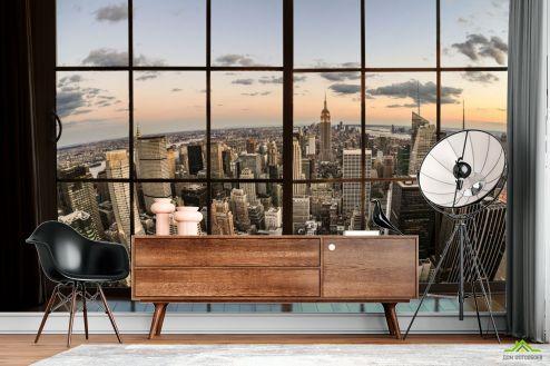 Вид из окна Фотообои Высотки Нью Йорка