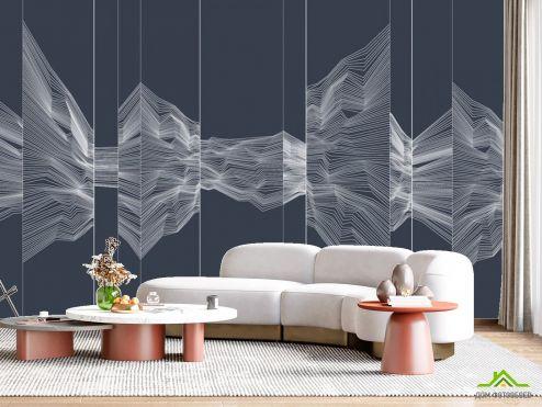 в гостиную Фотообои Абстракция в стиле line art