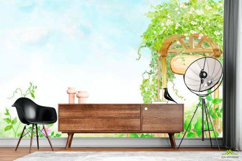 Иллюстрации Фотообои Арка с цветами