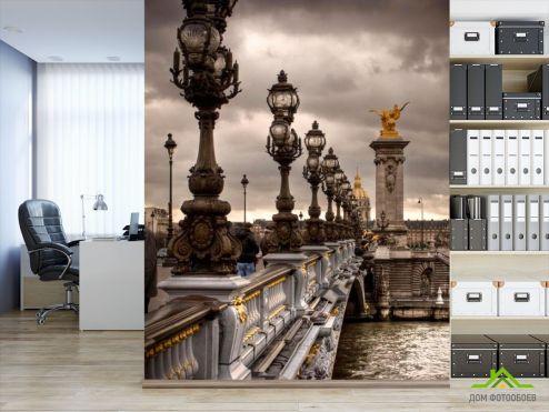 обои Архитектура Фотообои Фонари на мосту