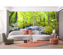 Фотообои Водопад и деревья