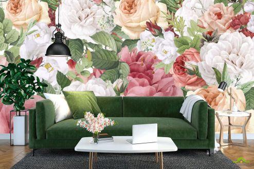Цветы Фотообои Винтажные цветы