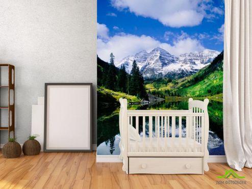 Горы Фотообои Отражение в воде
