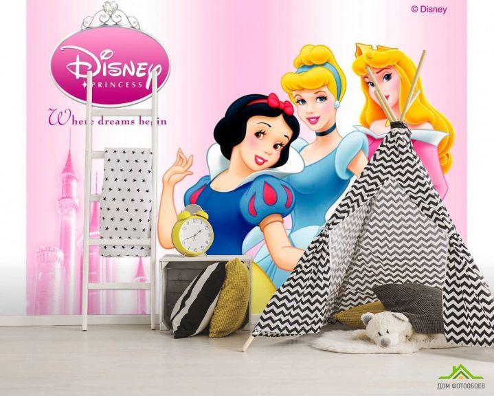 Фотообои 3 принцессы