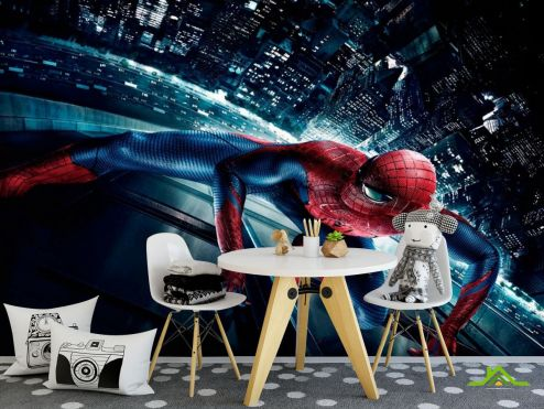 обои для малышей Фотообои Человек паук в городе