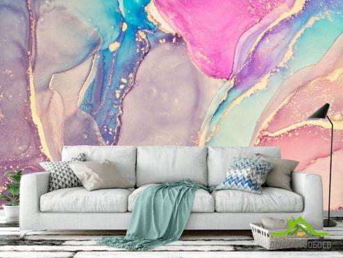 Fluid art Фотообои Яркий разноцветный флюид