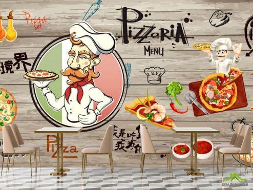 для кафе Фотообои Для любителей пиццы