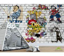 Фотообои 3д стена с граффити