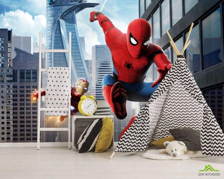 Фотообои Человек паук в деле