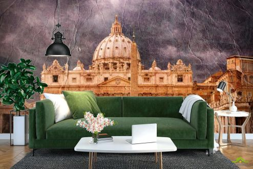 Винтажный Город Фотообои Ватикан