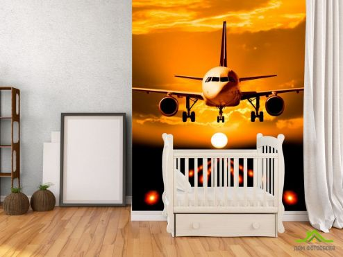 обои Самолеты Фотообои Посадка самолета