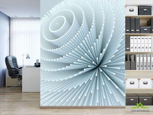 3D объемные Фотообои Цветок из палочек