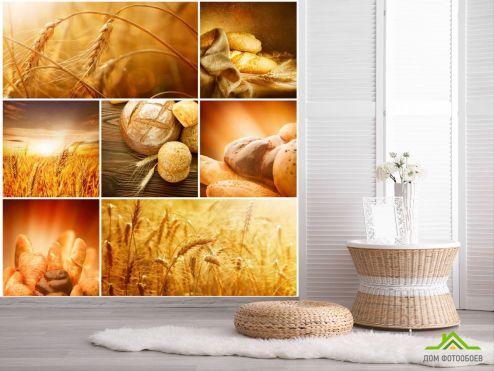 обои Еда и напитки Фотообои Пшеница, хлеб