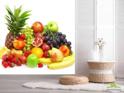 обои Еда и напитки Фотообои куча фруктов