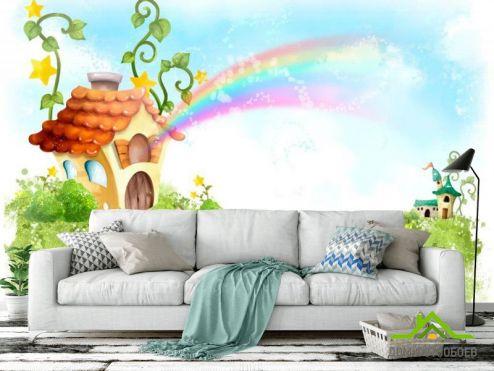обои Иллюстрации Фотообои Сказочные домик
