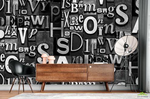 3Д  3д фотообои Буквы