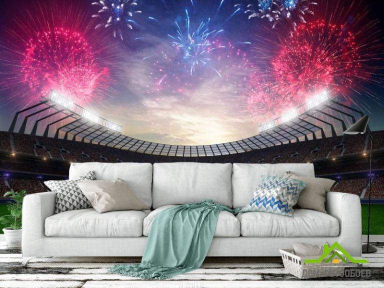Фотообои салюты над стадионом