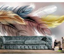 Фотообои Перья разноцветные