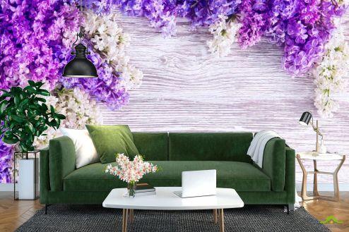 Фиолетовые  Фотообои Сирень