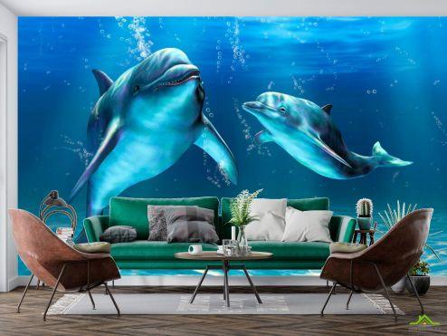 Дельфины Фотообои Игры дельфинов купить