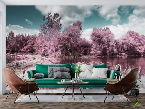 Природа Фотообои Деревья с отражением