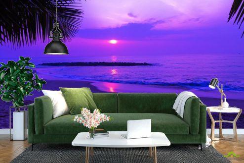 Фотообои Море по выгодной цене Фотообои Фиолетовый закат над морем