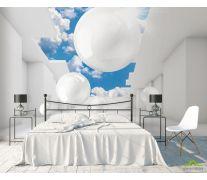 Фотообои 3д шары и небо