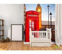 Фотообои Лондон, телефонная будка