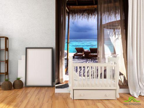 обои Море Фотообои Бунгало на море