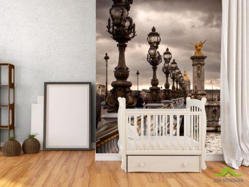 обои Дворцы и соборы Фотообои Фонари на мосту