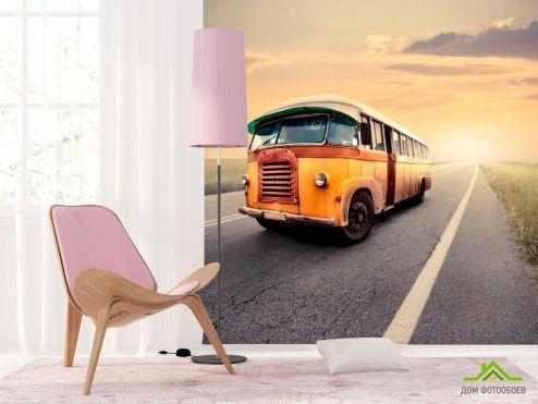 Фотошпалери автомобілі Фотообои Автобус
