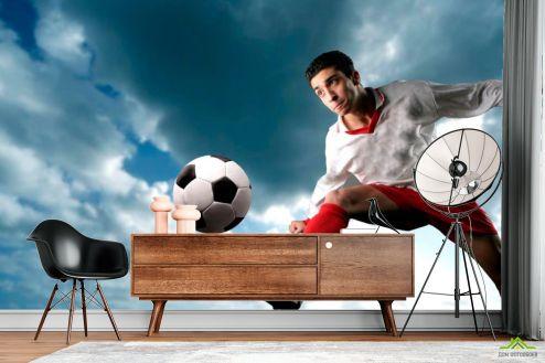 Спорт Фотообои Футболист с мячом
