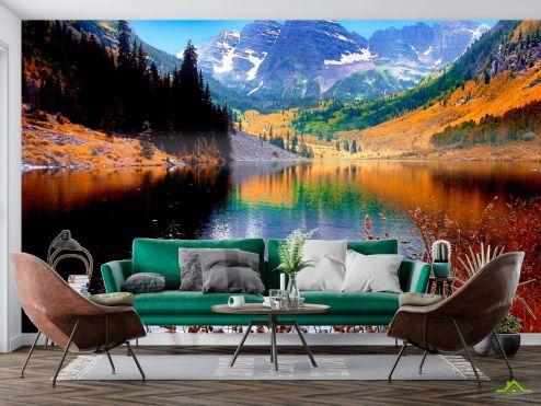 Природа Фотообои Тень, горное озеро