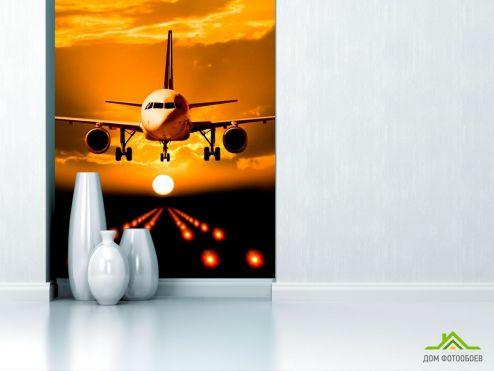 Каталог фотообоев Фотообои Посадка самолета