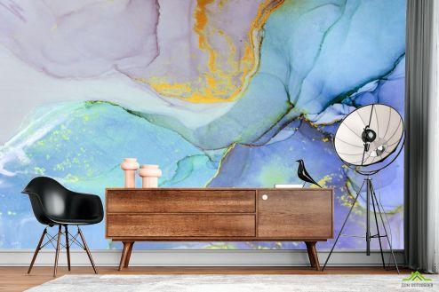Каменная стена Фотообои Сине-фиолетовый флюид