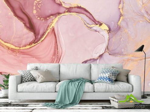 обои Fluid art Фотообои Розовый флюид