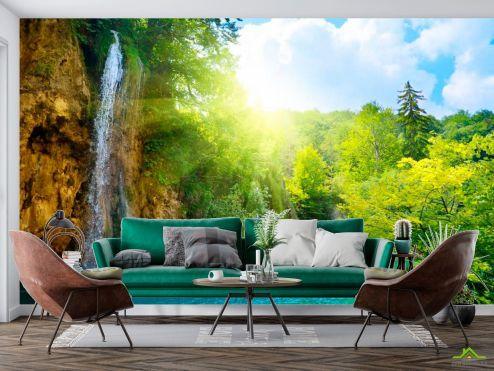 Фотообои Природа по выгодной цене Фотообои Водопад, зелень