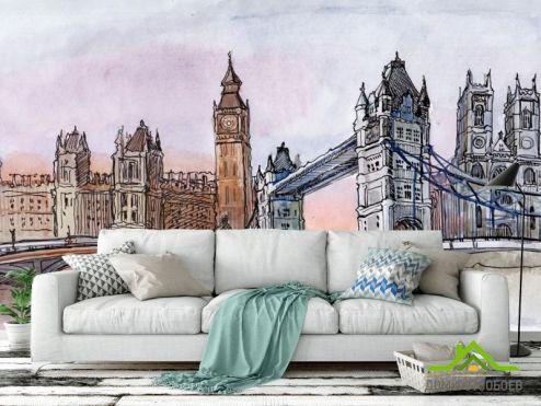 Иллюстрации Фотообои Лондон
