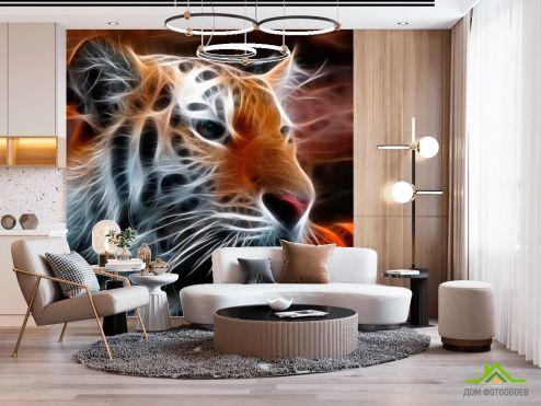 Тигры Фотообои Огненный тигр купить