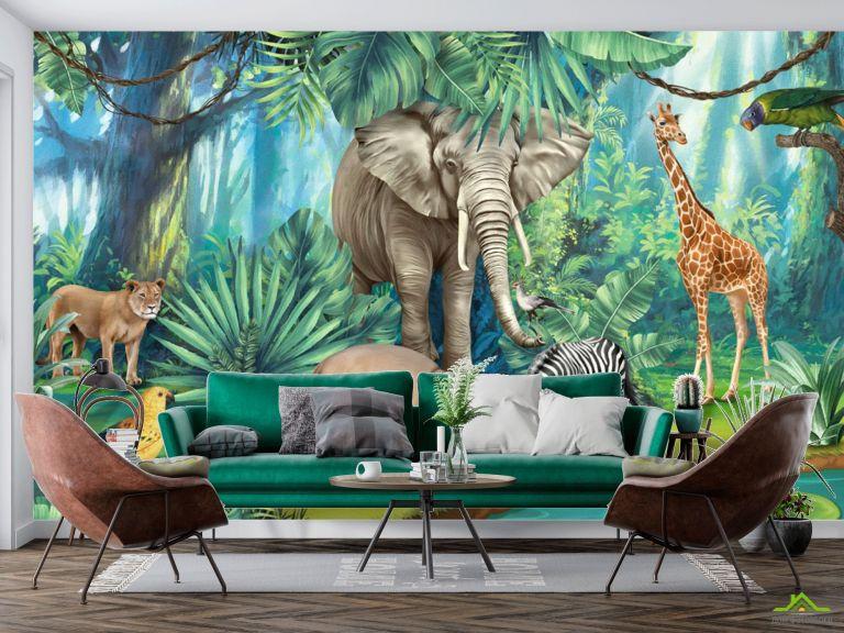 Фотообои Яркие африканские животные