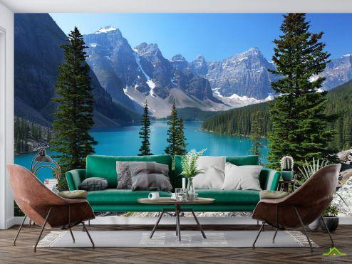 Природа Фотообои большое озеро в горах купить