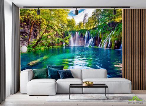 в гостиную Фотообои Пейзажный водопад