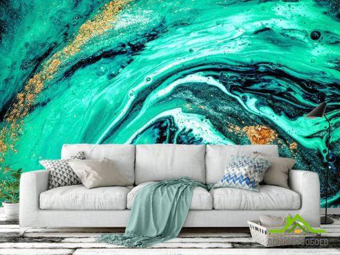 Фотообои Fluid art по выгодной цене Фотообои Fluid art зелёный