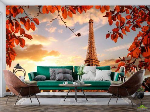 Фотообои Эйфилева башня осенью купить